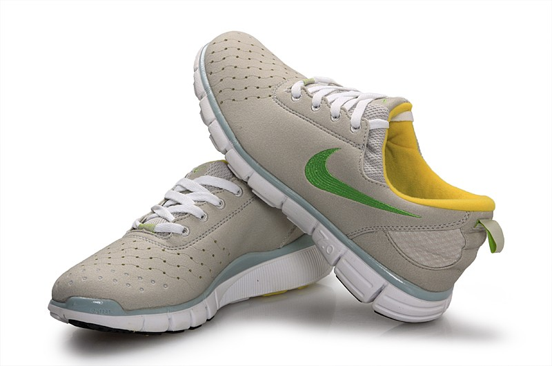 Nike Free 7.0 V3 Couple Shoes Grey Green Yellow