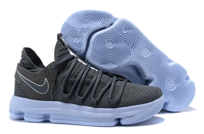 Nike KD 10 Dark Grey Reflective Silver