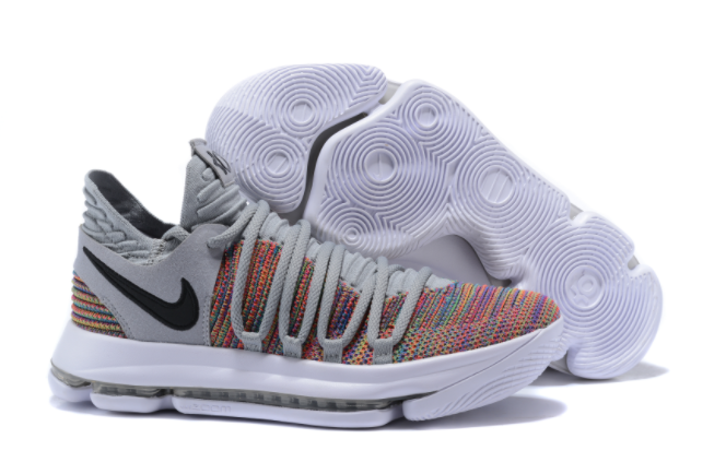 Nike KD 10 Multi-Color Black-Cool Grey-White