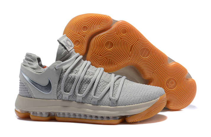 Nike KD 10 Pale Grey Light Bone-Gum