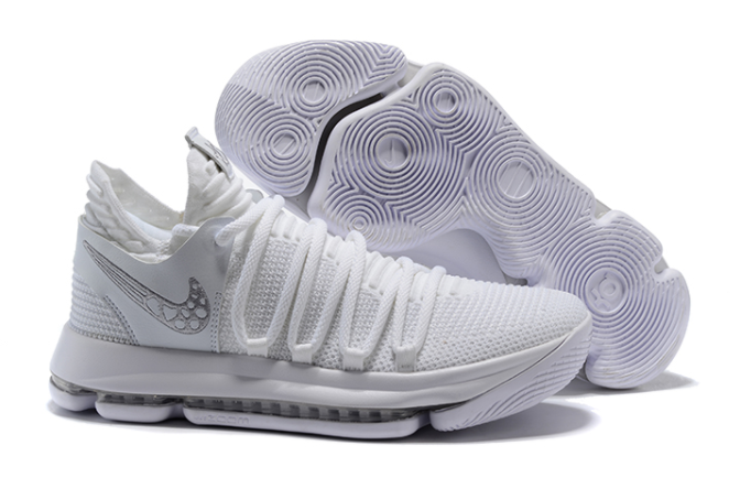 Nike KD 10 Platinum Tint Vast Grey-White