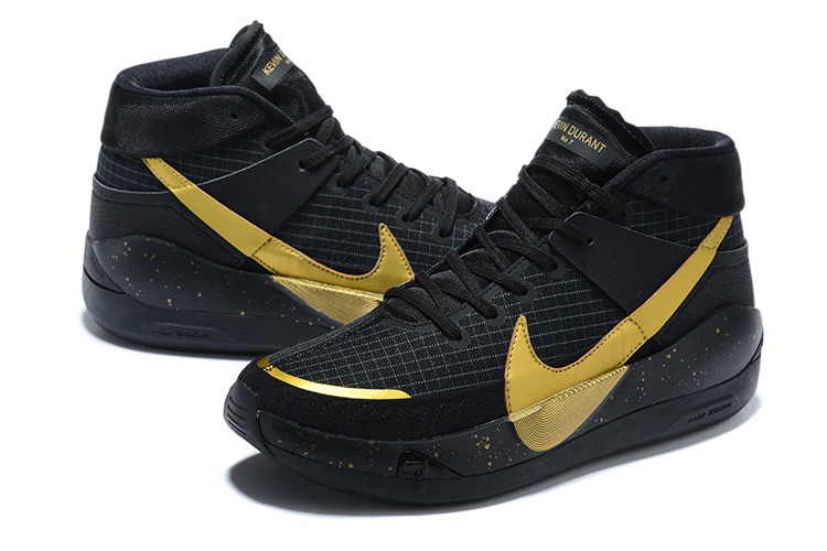2020 Nike Kevin Durant 13 Black Gold Shoes