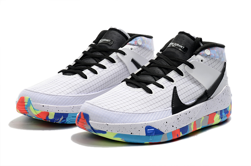 2020 Nike Kevin Durant 13 White Colorful Black