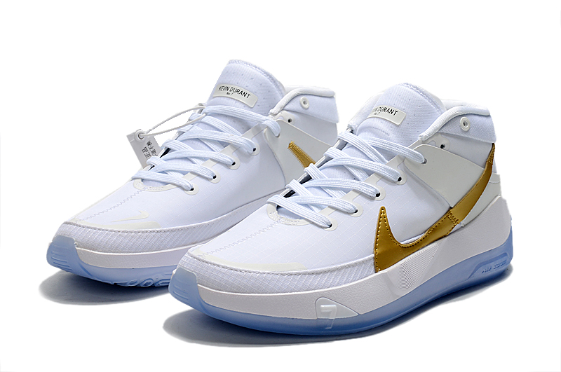 2020 Nike Kevin Durant 13 White Gold Ice Sold