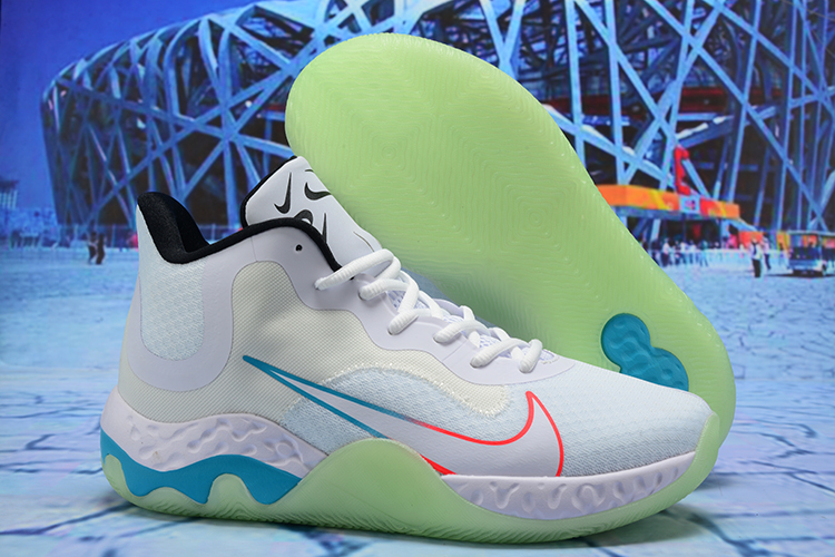 2020 Nike KD Trey 6 Vllll White Blue Green