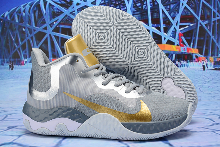 2020 Nike KD Trey 6 Vllll Grey Gold