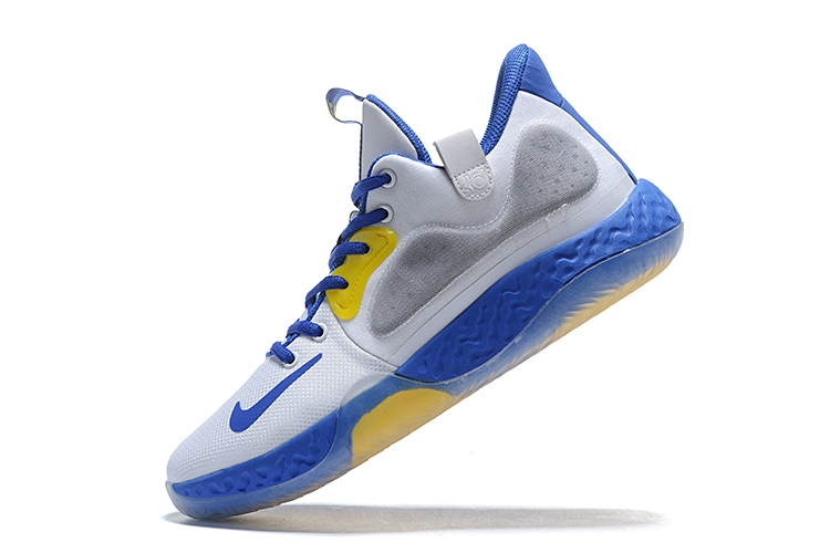 2020 Nike KD Trey IV White Blue Yellow