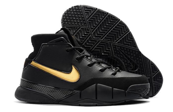 "34d9f0f39fd1 Nike Kobe 1 Protro ""Mamba Day"" Black White-Metallic Gold"