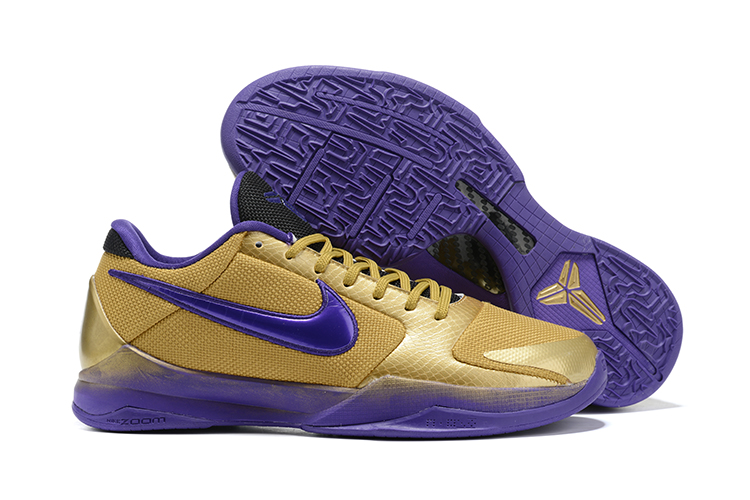 2020 Nike Kobe Bryant V Hall of Fame Gold Purple Red