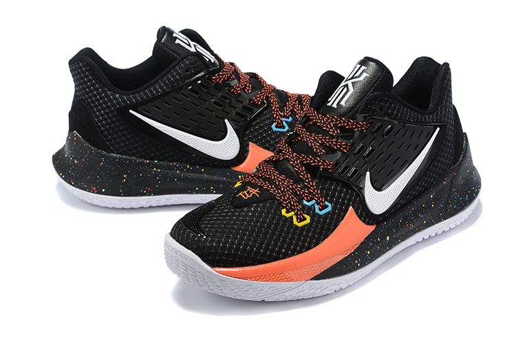 2020 Nike Kyrie Irving II Low Black White Orange Shoes For Women