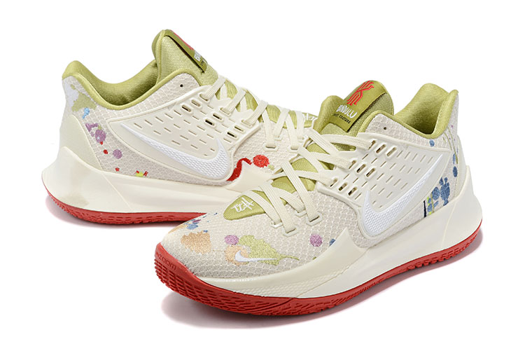 2020 Nike Kyrie Irving II Low Cream Beign Red Shoes For Women