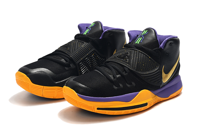 2019 Nike Kyrie VI Black Yellow Purple Gold