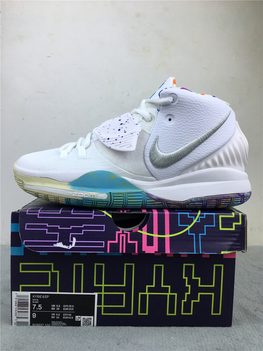 2019 Nike Kyrie Irving 6 EP White Silver