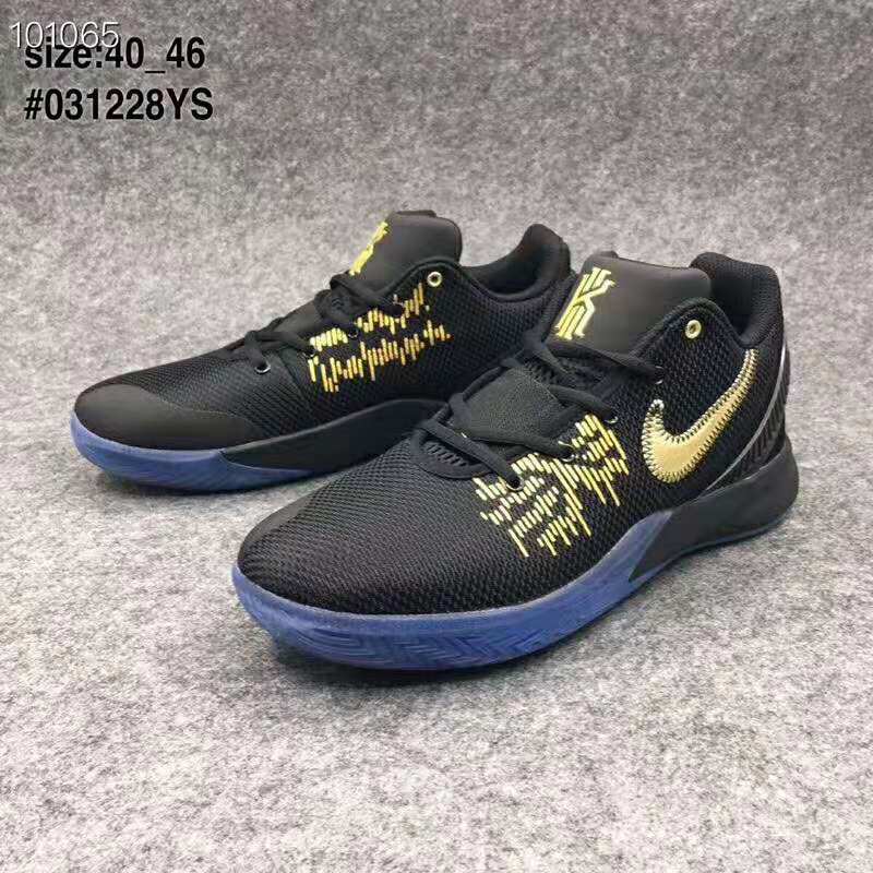Nike Kyrie Irving Flytrap 2 Black Gold Gamma Blue Basketball Shoes