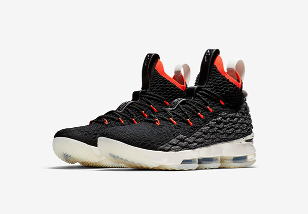 "Nike LeBron 15 ""Bright Crimson"" Black Sail-Bright Crimson"