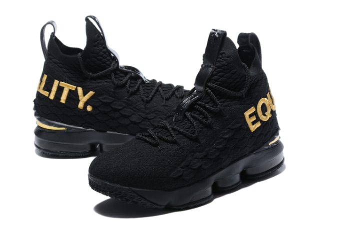 "Nike LeBron 15 ""Equality"" Black Metallic Gold"