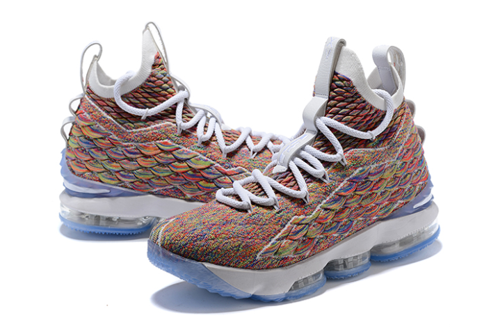 "Nike LeBron 15 ""Fruity Pebbles"" White Multi-Color"