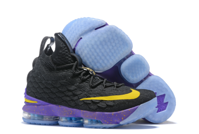 Nike LeBron 15 Black Purple-Yellow