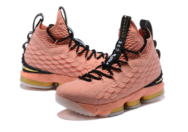 "Nike LeBron 15 Hollywood ""All-Star"" Rust Pink Metallic Gold-Black"