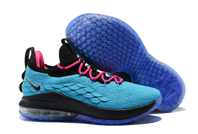 "Nike LeBron 15 Low ""South Beach"" Teal Pink-Black"