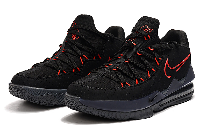 2020 Nike LeBron 17 Low Black Red Basketball Shoes