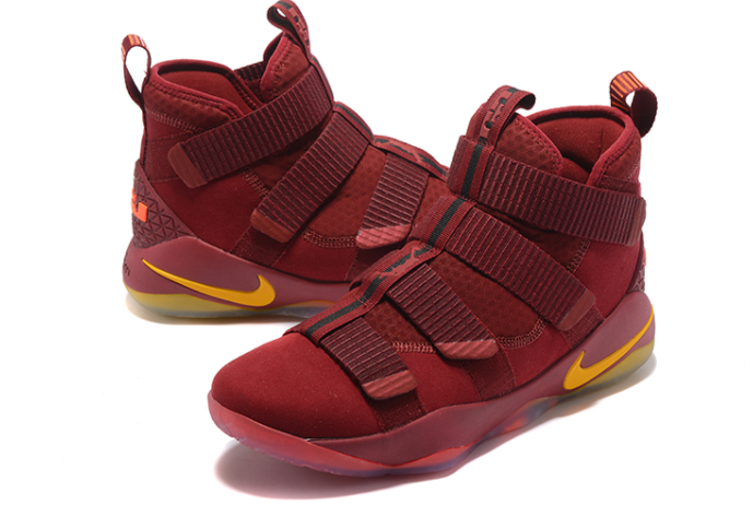 Nike LeBron Soldier 11 Cavs PE Wine Red Gold