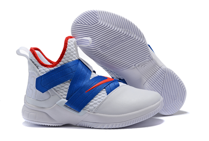 Nike LeBron Soldier 12 White Blue-Red