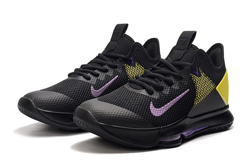 2020 Nike Lebron James Witness 4 Lakers Black Yellow Blue