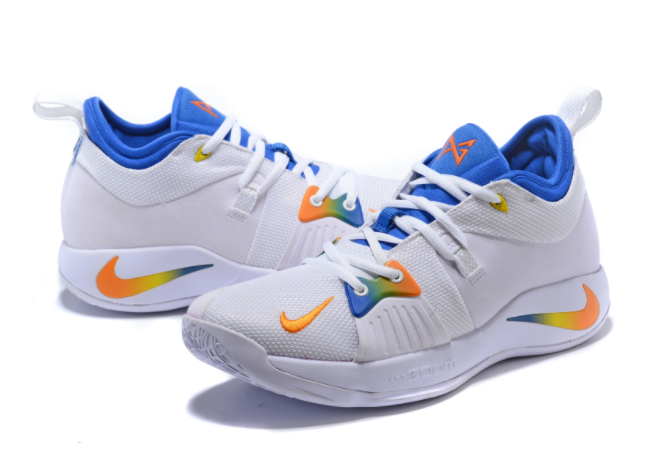 Nike PG 2 White Blue Orange Paul George