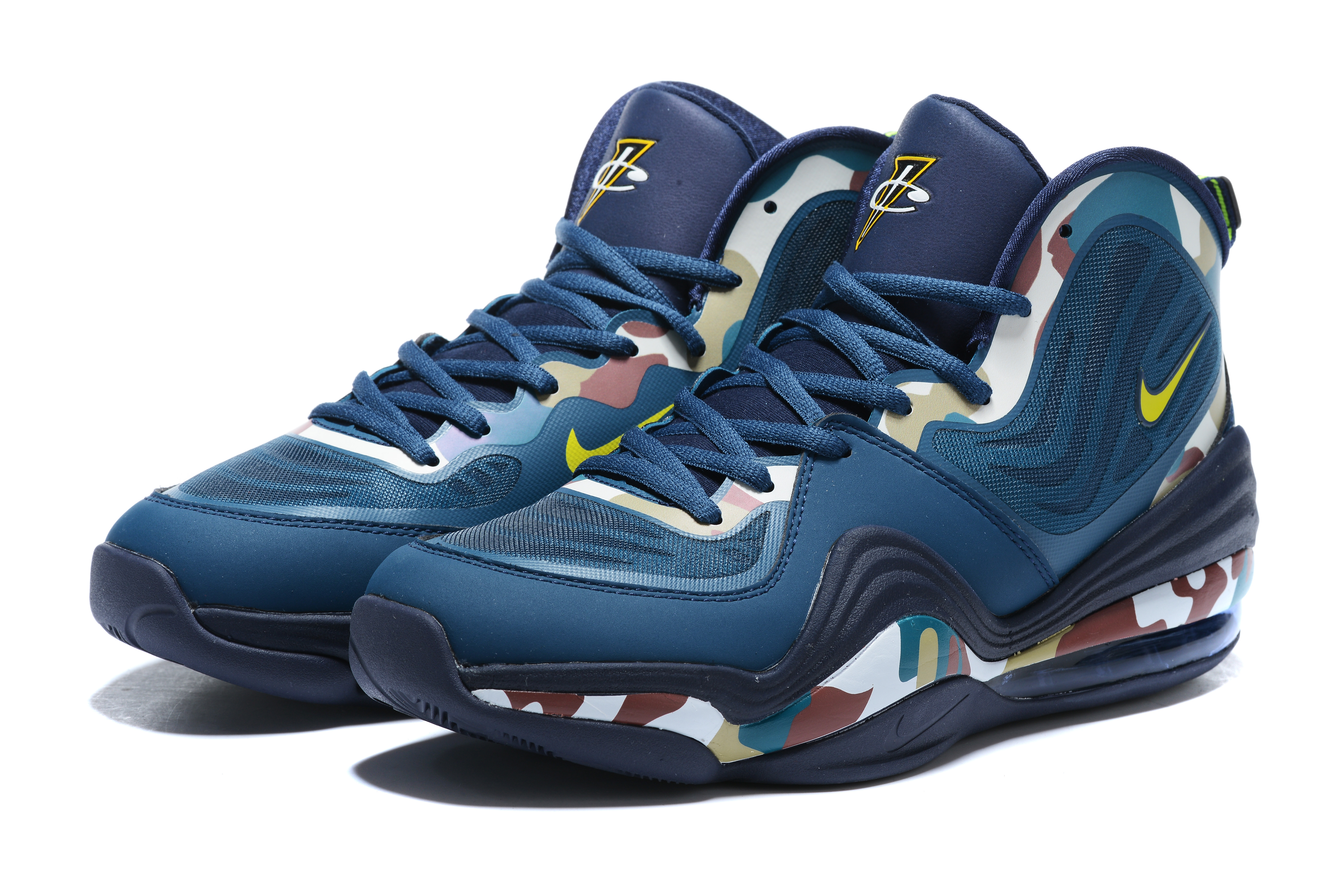 2020 Nike Penny Hardaway V Navy Blue Colorful Basketball Shoes