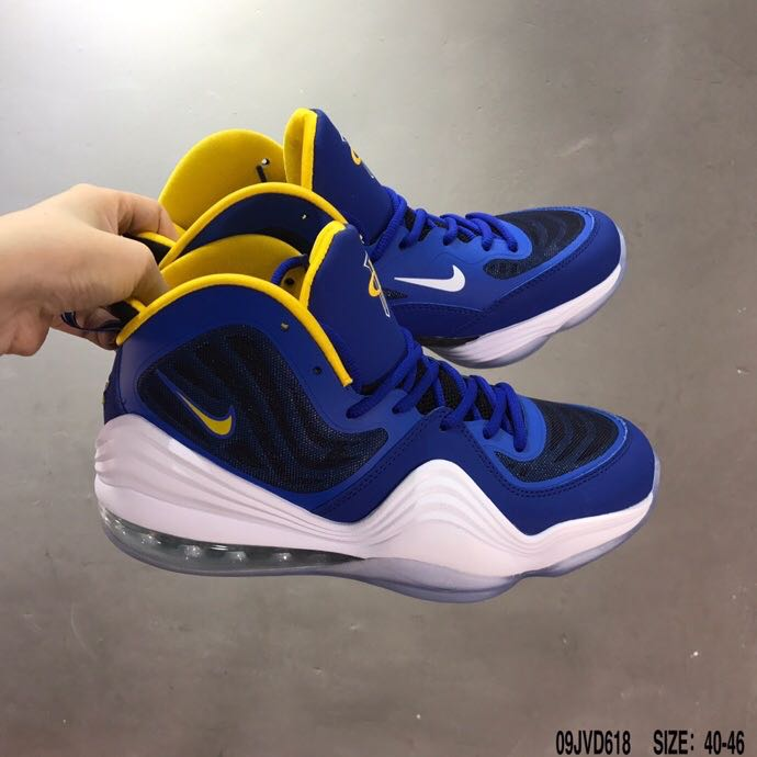 2020 Nike Penny 5 Blue Yellow White