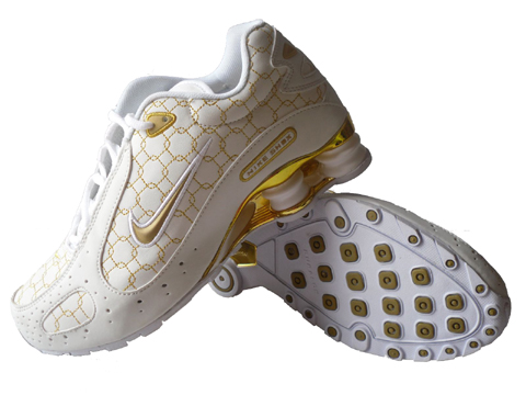 Nike Shox Monster SI Shoes White Gold