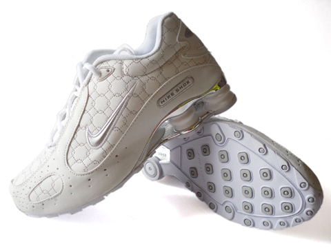 Nike Shox Monster SI Shoes White Silver