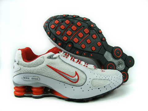 Nike Shox Monster White Red Silver