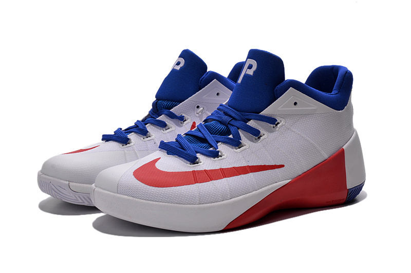 Nike 2015 Paul George Low Washington White Blue Red Shoes