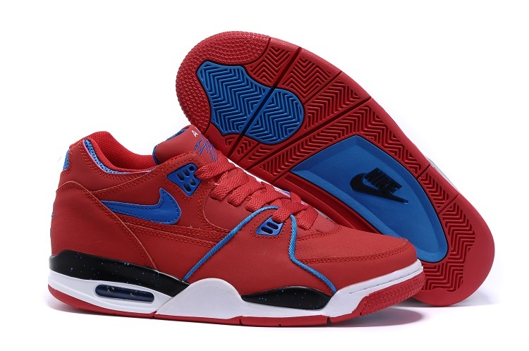 Nike Air Flight 89 All Red Blue Shoes
