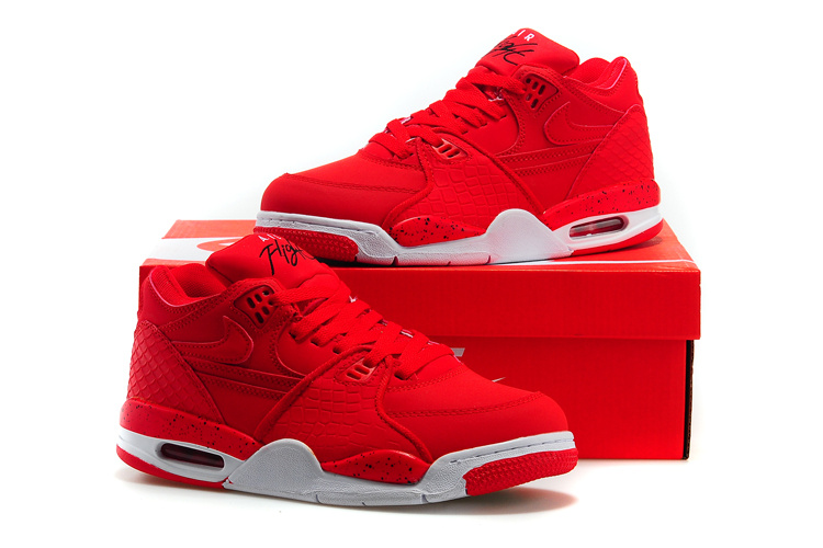 Women Nike Air Flight 89 All Red Shoes