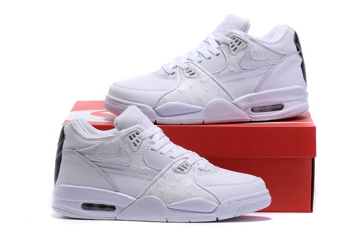 Nike Air Flight 89 All White Black Shoes