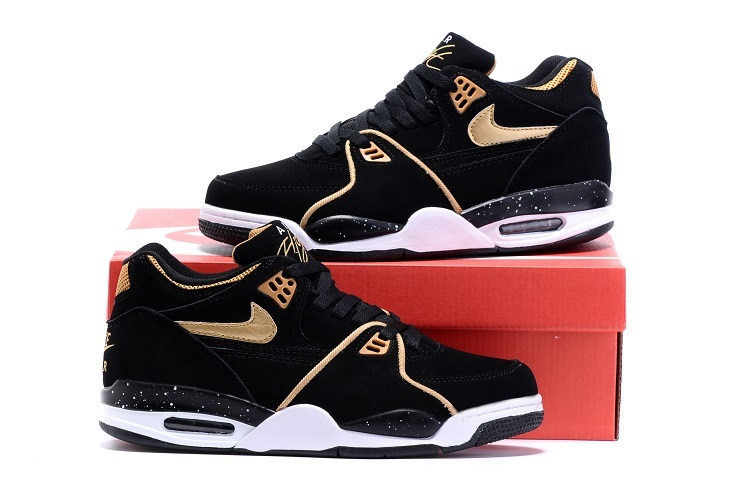 Nike Air Flight 89 Black Gold Shoes