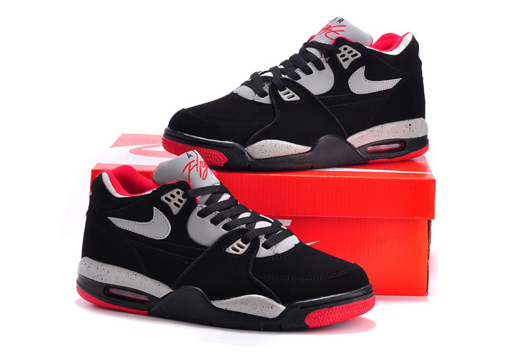 Nike Air Flight 89 Black Grey Red Shoes