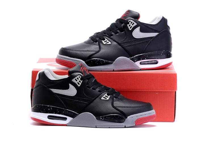 Nike Air Flight 89 Black Red Shoes