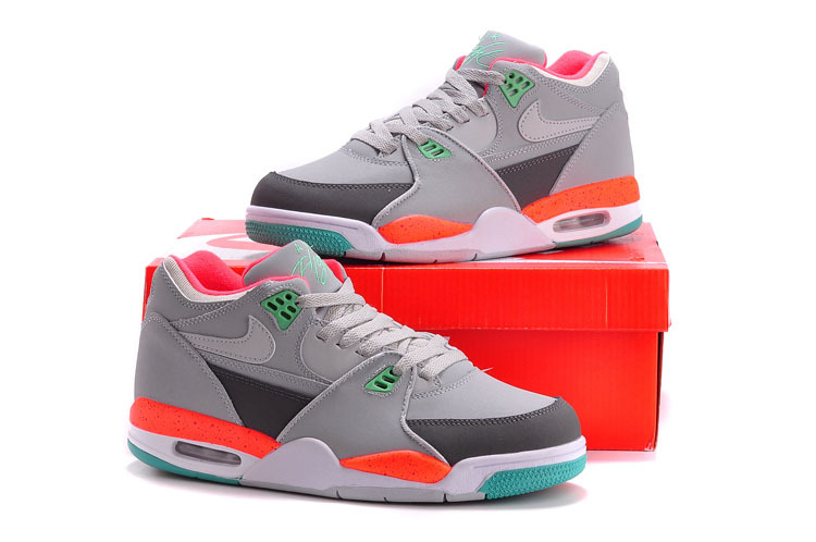 Nike Air Flight 89 Grey Orange Green Shoes