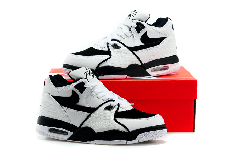 Women Nike Air Flight 89 White Black Shoes