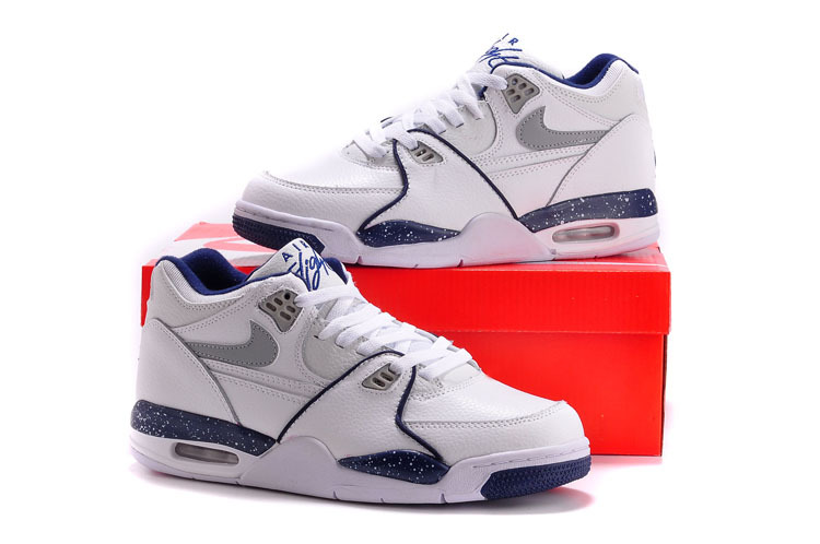 Nike Air Flight 89 White Blue Shoes