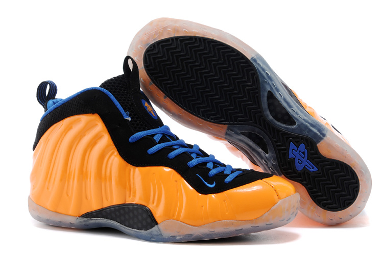 Nike Air Foamposite One Orange Black Blue Shoes