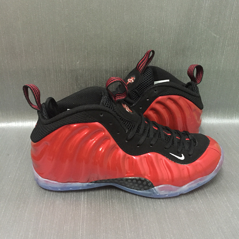 more photos 1c92b 106d8 Nike Air Foamposite One Red Black Transparent Sole Shoes