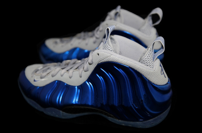 2014 Air Foamposite One White Blue Shoes