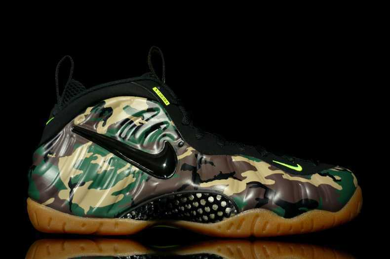 2014 Air Foamposite Pro Army Camo Hardaway Basketball Shoes