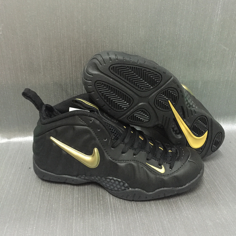 Nike Air Foamposite Pro Black Gold Shoes