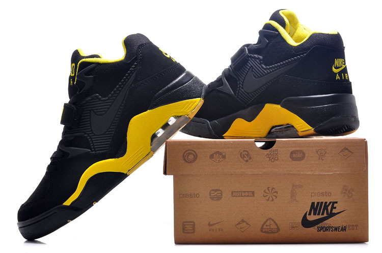 New Release Air Force 180 Barkley Black Yellow Shoes